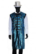 Blue Sequin Carnival Circus Costume