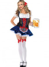 Blue & Red Beer Girl