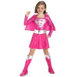 Pink Kids Supergirl Costume