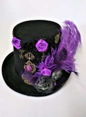 Purple Feathers Hat