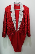 Red Sequin Tail Jacket