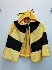 Kids Fluffy Bee Cape