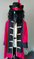 Red and Black Captain Hook Costume