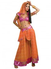Orange Bollywood dancer