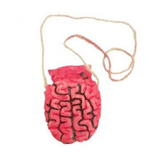 Halloween Brain on a Rope Necklace