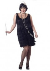 Black Flapper Plus Size