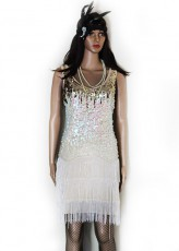 Gold and White Glamour Flapper Gatsby
