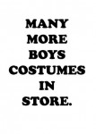 MORE BOYS COSTUMES!