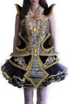 Thai Black and Gold Gem Dress