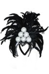 Deluxe Black Showgirl Carnival Headpiece