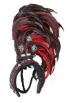 Red Side Showgirl Headpiece