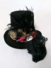 Small Steampunk Bow Hat Alt